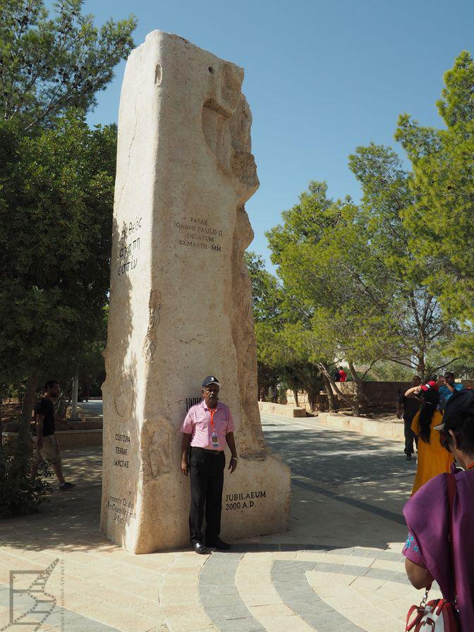 Góra Nebo - monument upamiętniający wizytę Jana Pawła II