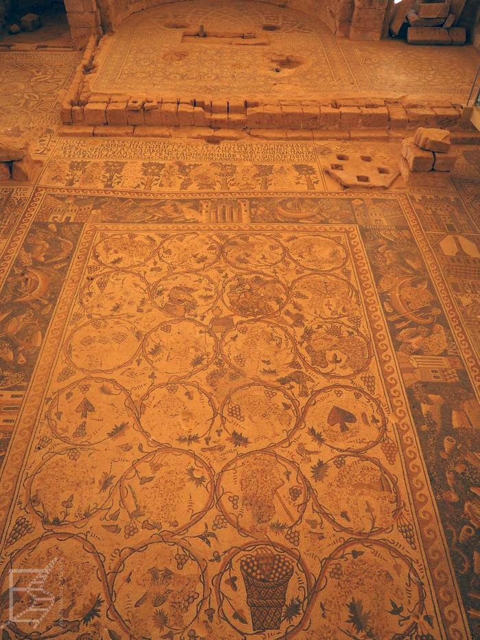 Słynna mozaika w Umm Al-Rasas