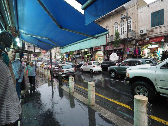 Amman w deszczu
