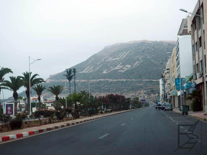 Agadir i słynny napis