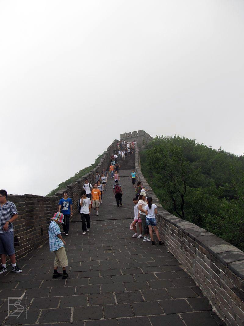 Mur z tej perspektywy nie wygląda już tak okazale