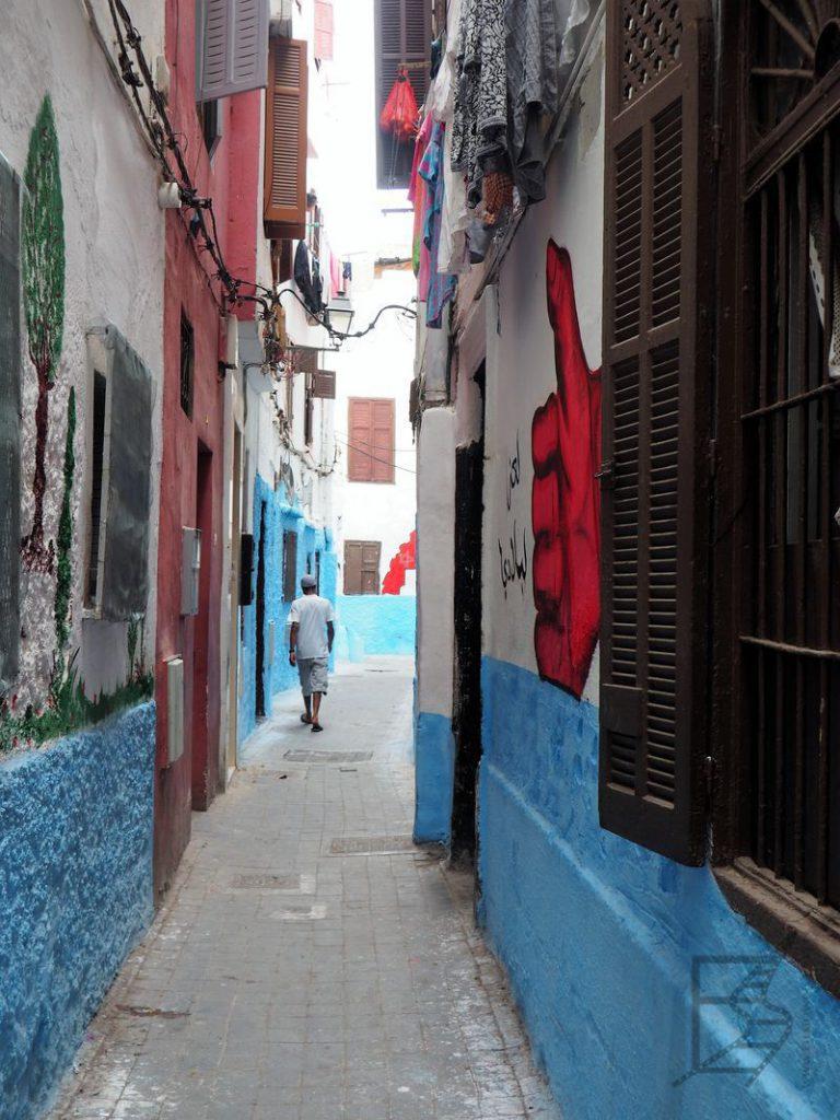 Wąskie uliczki medyny