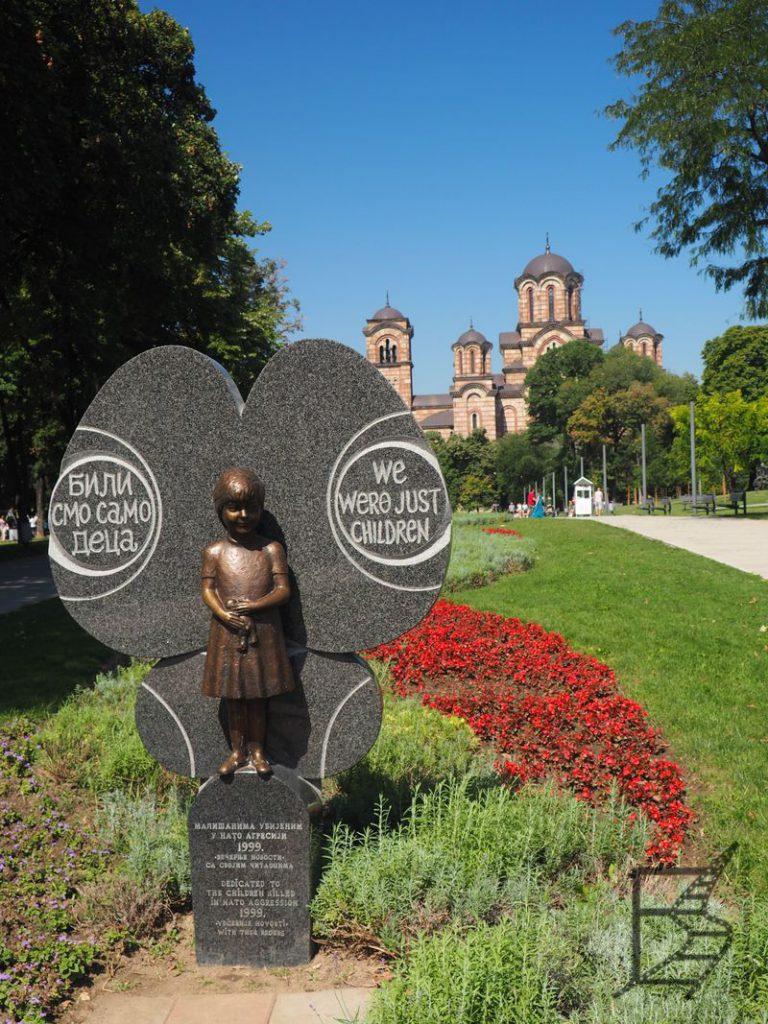 Pomnik dzieci zabitych przez NATO (Belgrad, Serbia)