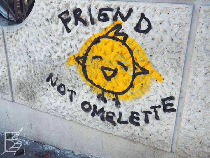 Wegetariańskie graffiti