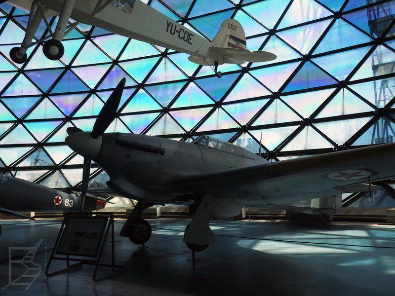 Muzeum lotnictwa wewnątrz