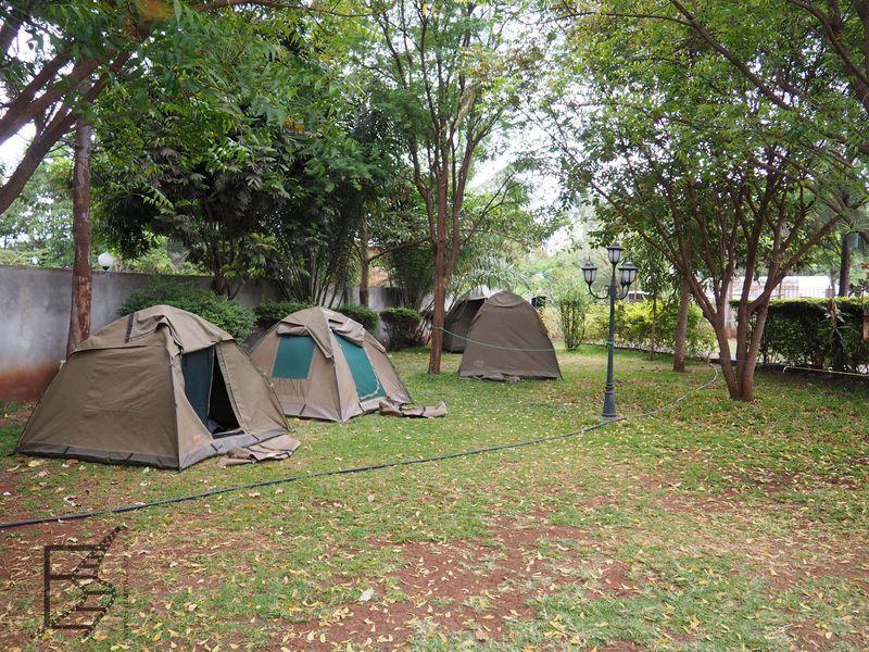 Nocleg pod namiotami w budżetowym safari