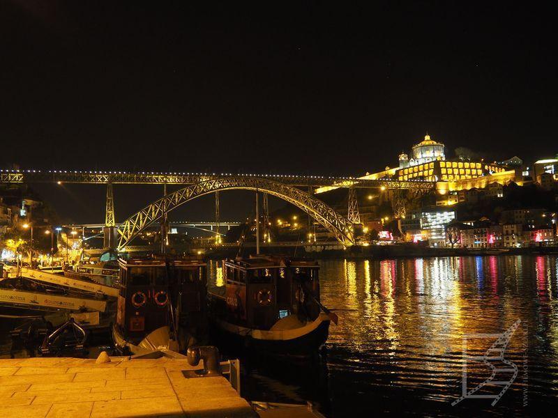 Most Dom Luis I nocą
