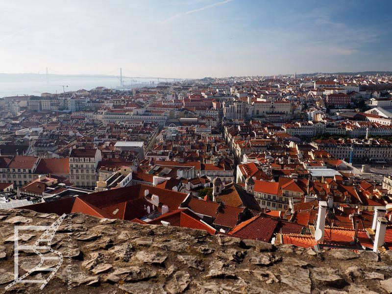 Lizbona widziana z zamku Maurów