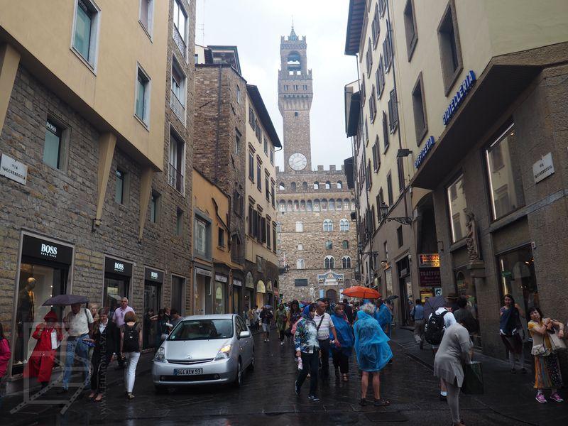 Pałac Vecchio w tle (Florencja)