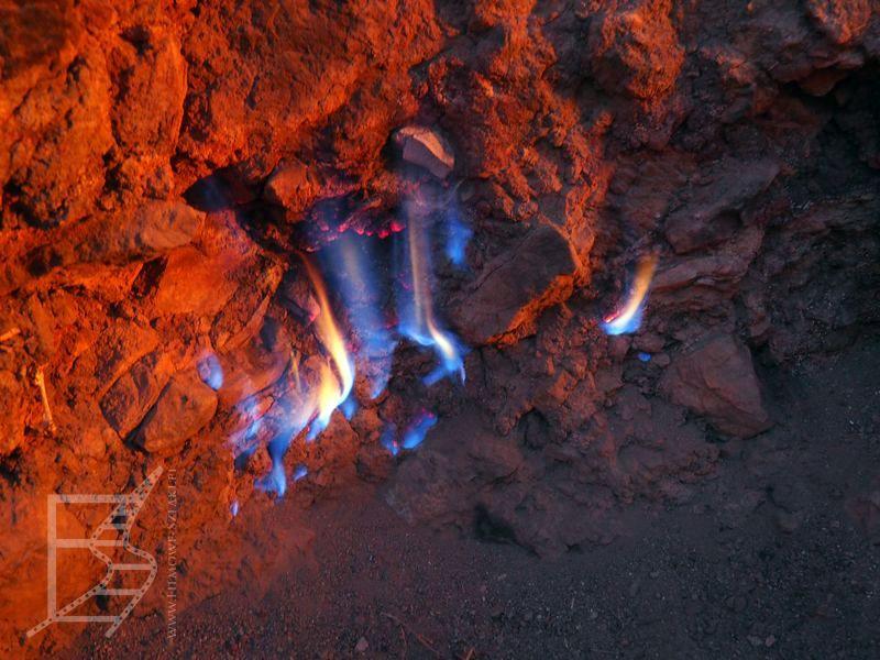 Płonący gaz ziemny