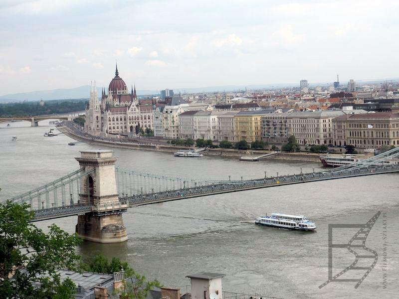 Widok na most łańcuchowy (Budapeszt)
