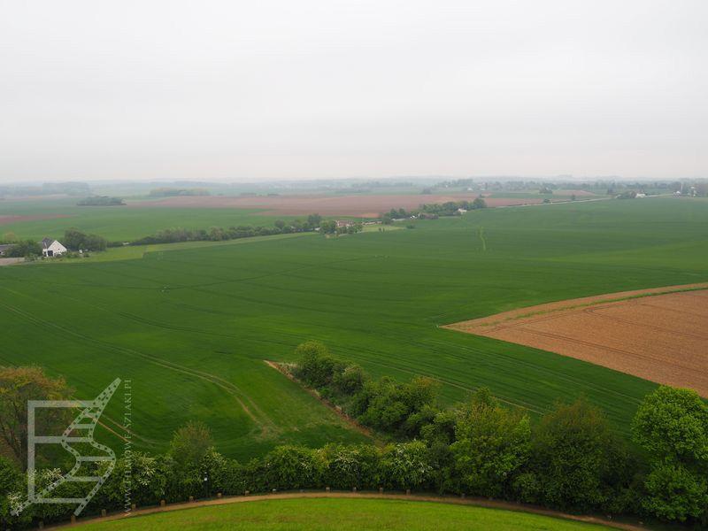 Pola bitwy, widok z kopca