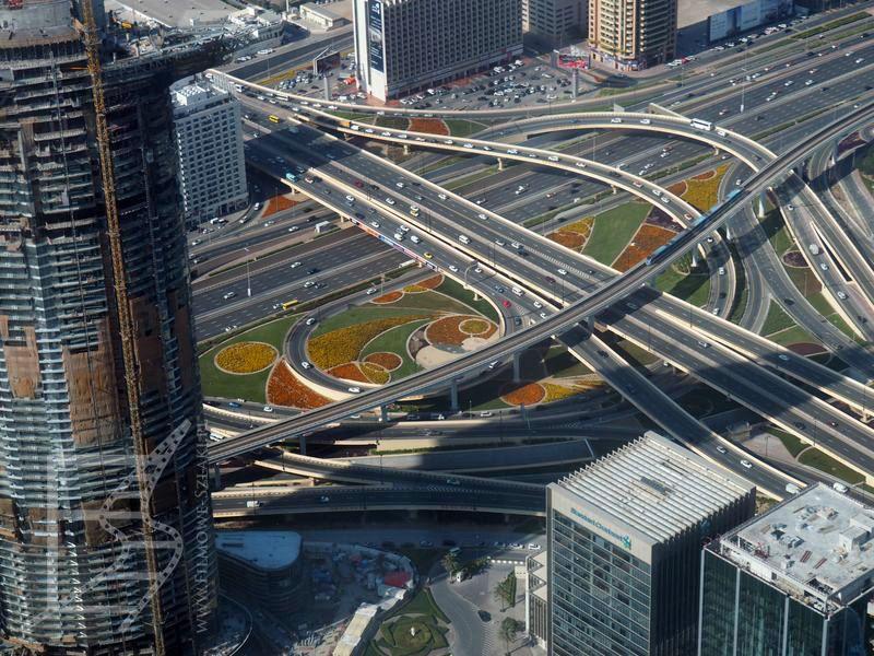 Skrzyżowanie w Dubaju