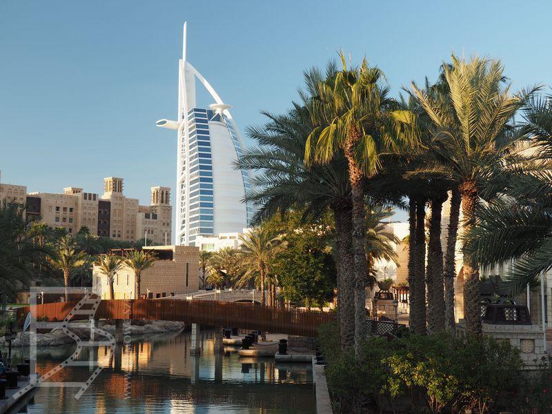 Burj Al Arab widoczny Jumeirah