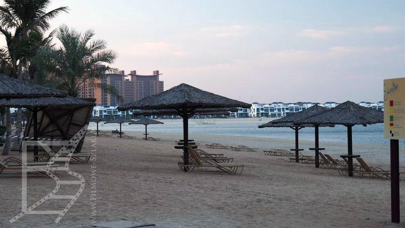 Plaża na Palm Jumeirah
