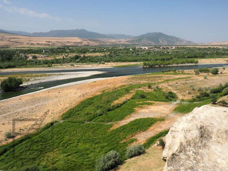 Widok na rzekę Kurę