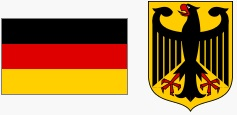 Flaga i godło Niemiec (za wikipedia.org)