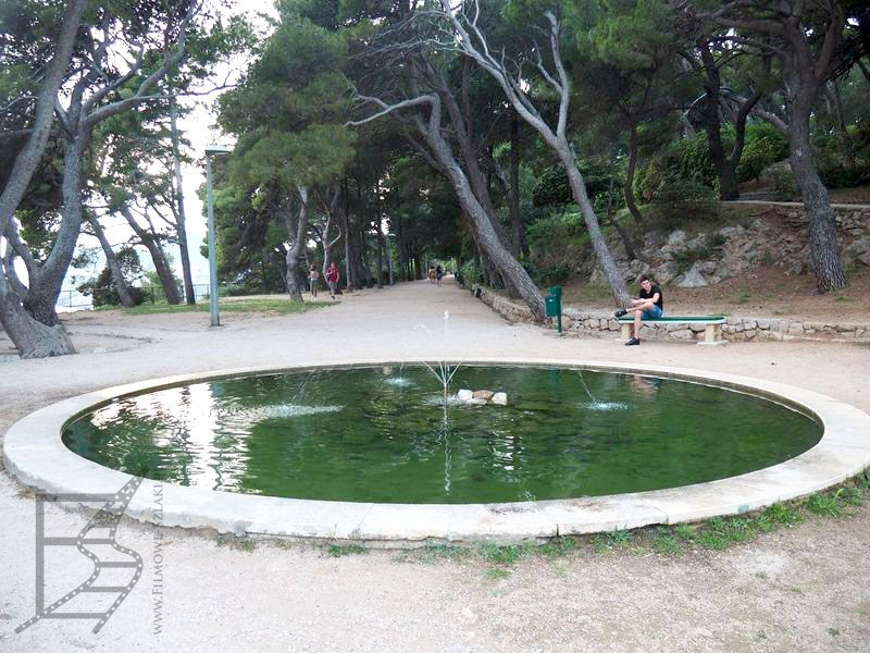 Fontanna w parku Gradac