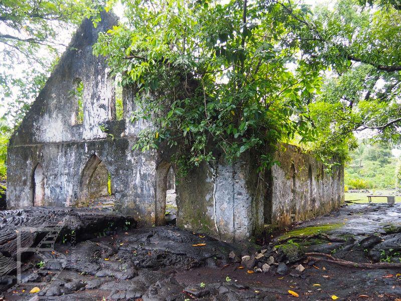 Kościół zniszczony przez lawę