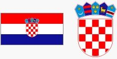 Flaga i godło Chorwacji (za wikipedia.org)