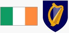 Flaga i godło Irlandii (za wikipedia.org)