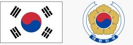 Flaga i godło Korei (za wikipedia.org)