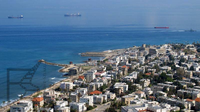 Widok na Hajfę z góry Karmel