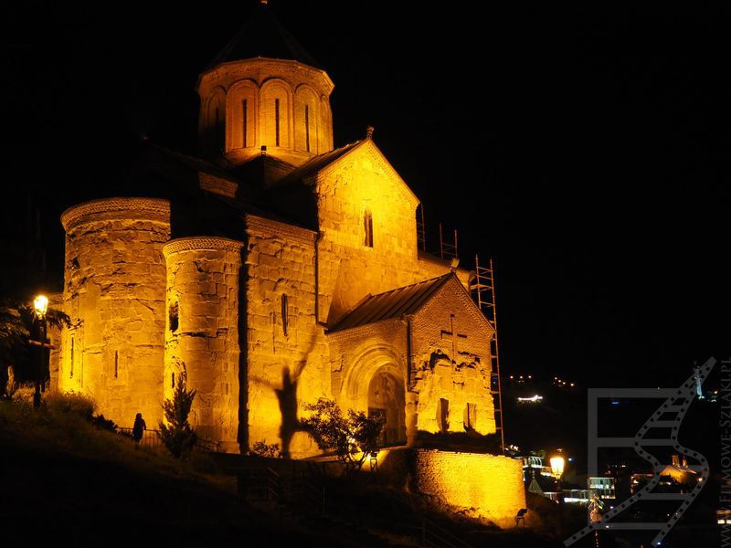 Świątynia Metechi nocą