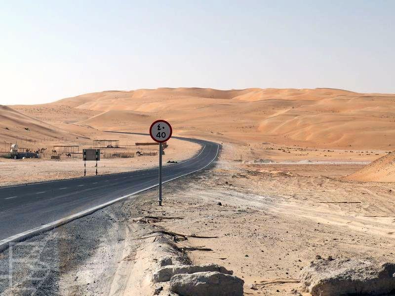 Bardziej dzikie pustynne drogi w ZEA
