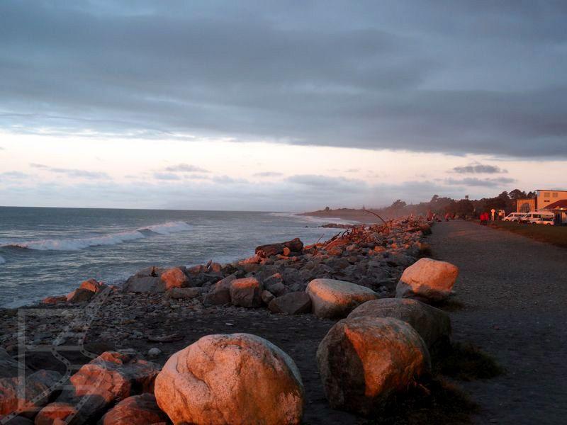 Plaża o zachodzie