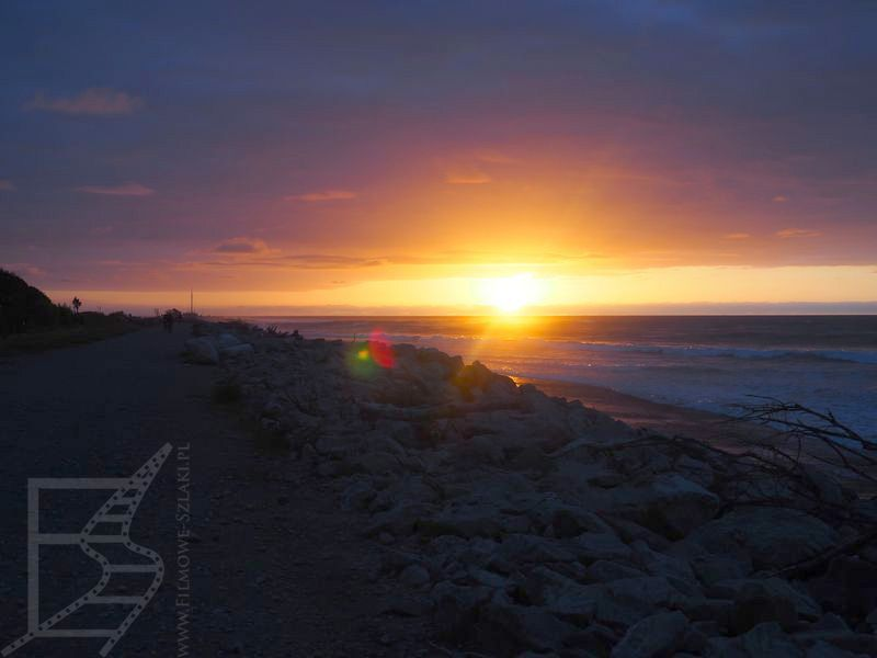 Zachód słońca nad Morzem Tasmana