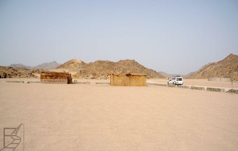 Wioska Beduinów na Saharze
