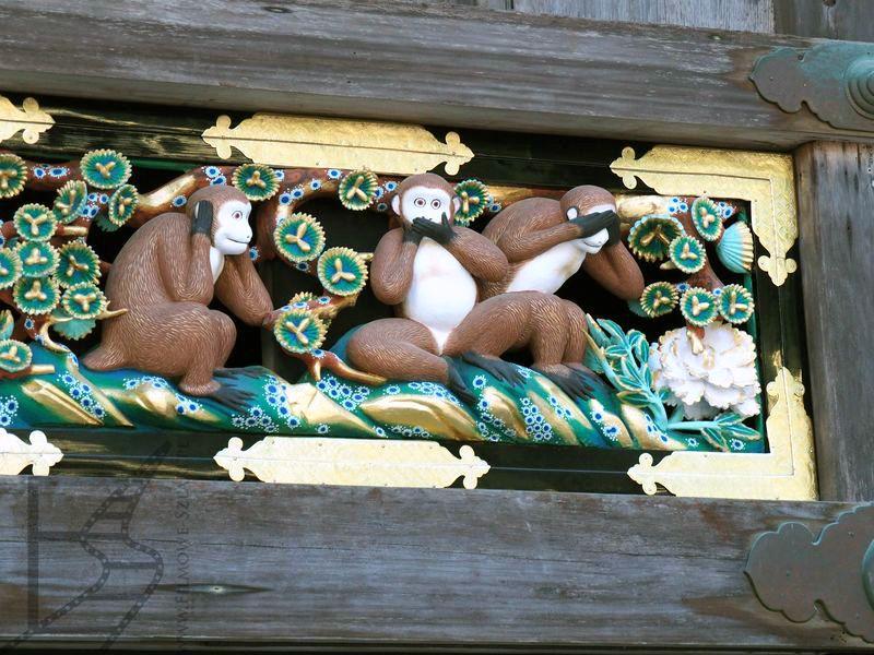 Trzy Mądre Małpy w Tōshō-gū