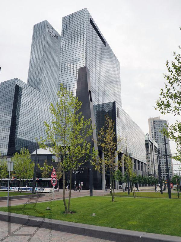 Okolice dworca w Rotterdamie
