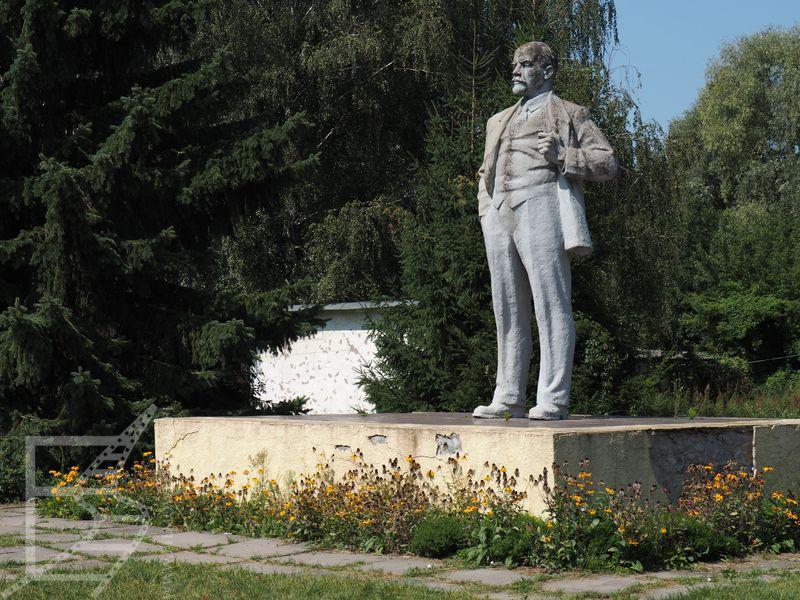 Prawdopodobnie ostatni pomnik Lenina na Ukrainie (Czarnobyl)