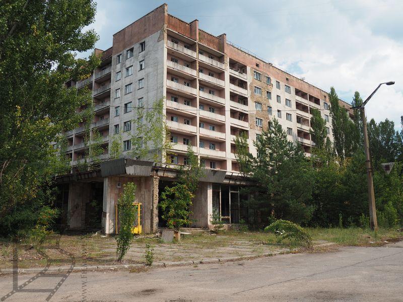 Opuszczone domy mieszkalne w Prypeci