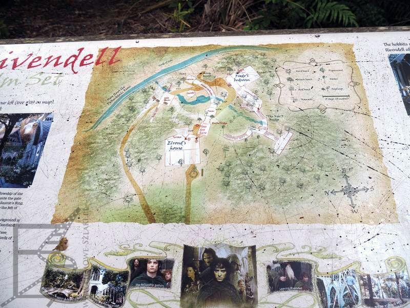 Mapa planu Rivendell w Kaitoke Regional Park