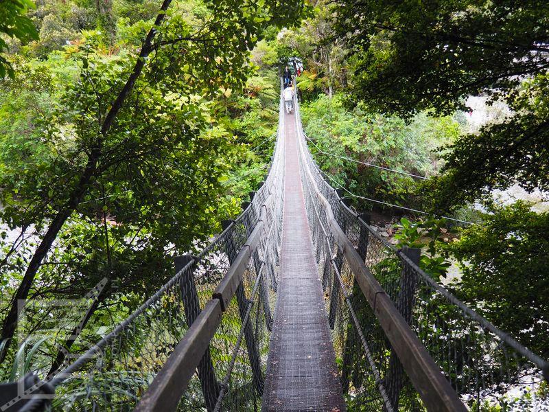 Most wiszący nad rzeką