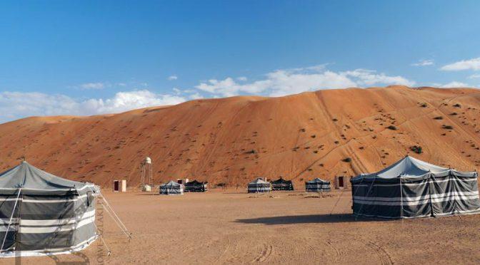 Namioty w Wahiba Sands