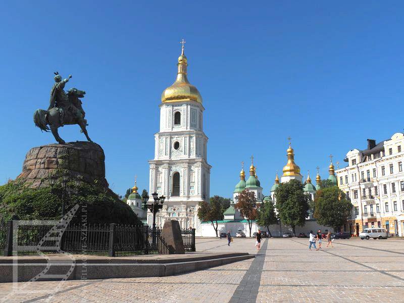 Pomnik Chmielnickiego i Sobór Sofijski