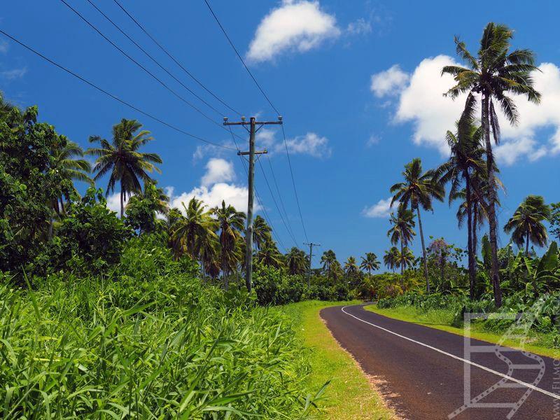 Droga na wyspie Upolu, Samoa