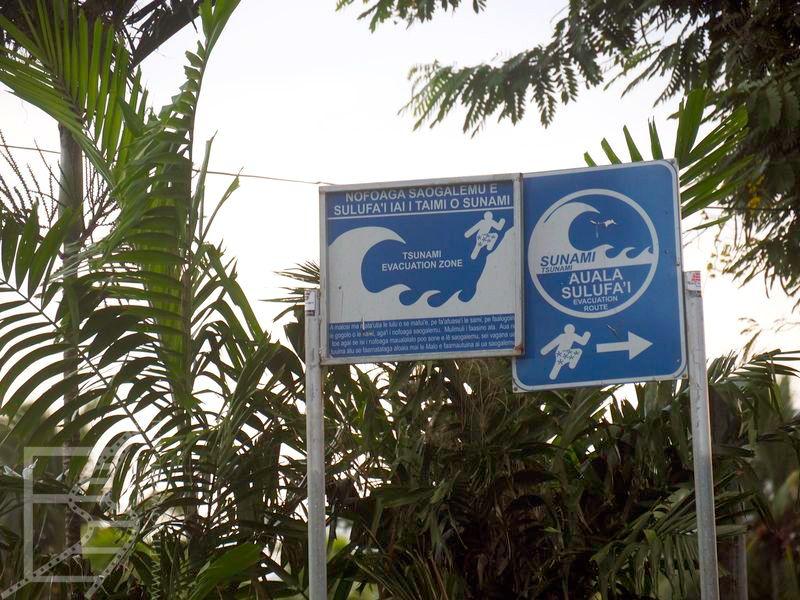Droga ewakuacyjna w przypadku tsunami