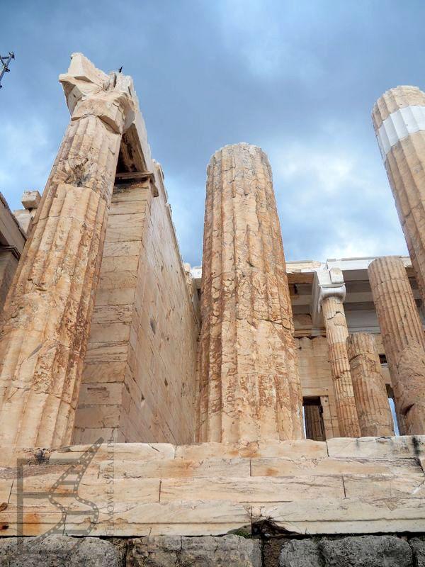 Kolumny na Akropolu w Atenach