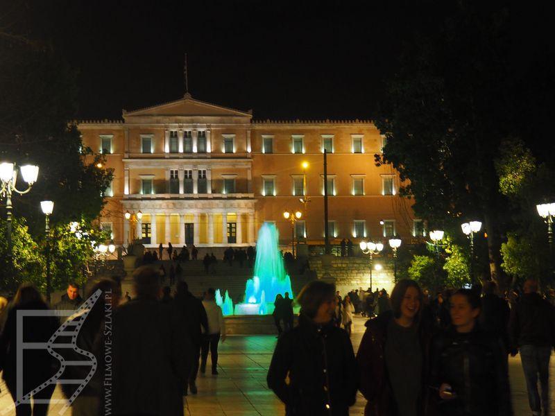Plac Sindagma i widok na parlament