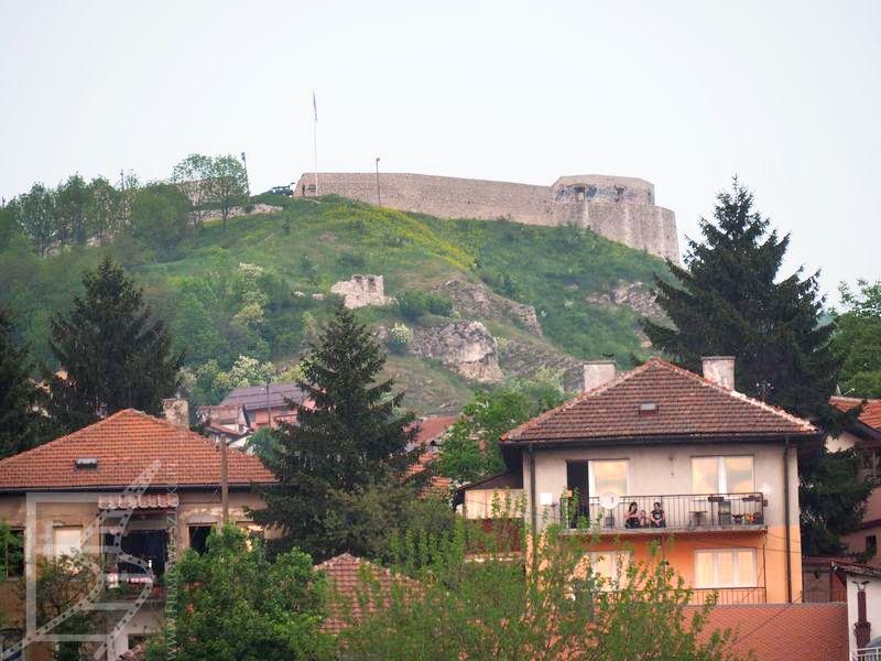 Sarajewo i widok na Żółty Bastion