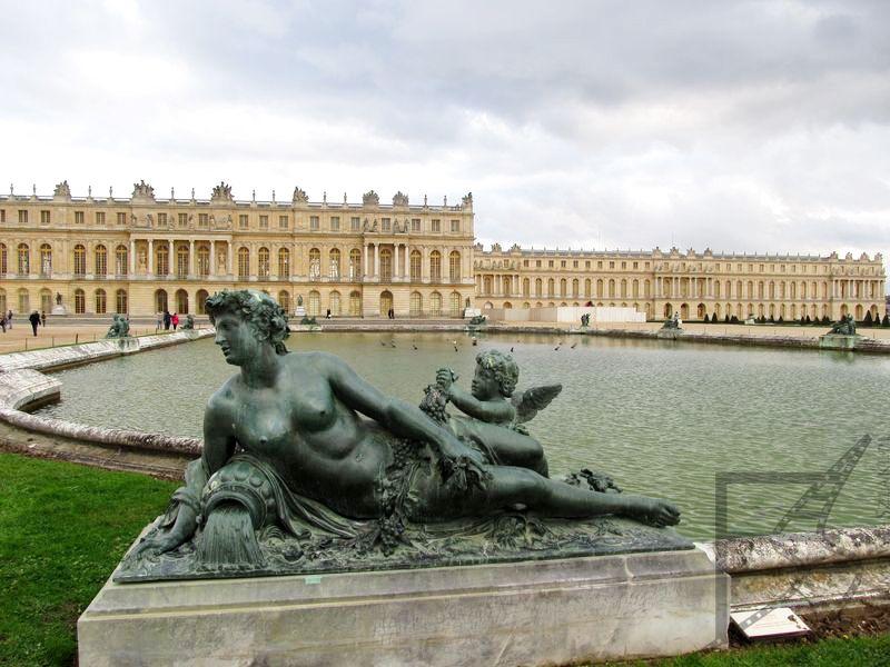 Słynne ujęcie widoku na pałac (Wersal)