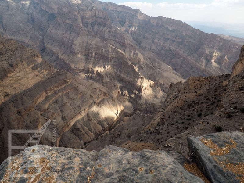 Widok na kanion Wadi Nakhr