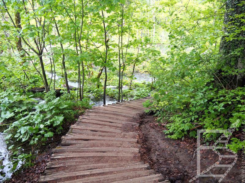 Szlak w Parku Narodowym Jezior Plitwickich