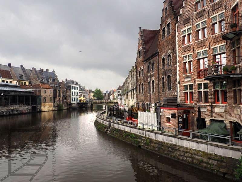 Kanał Leidy w Gandawie (Belgia)