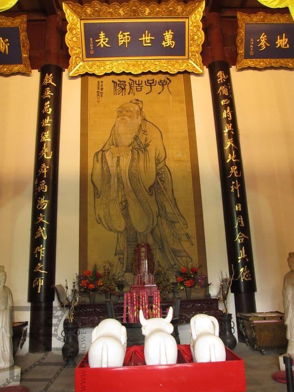 Konfucjusz w jednej ze świątyń (Nankin)